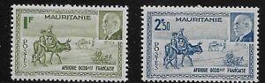 Mauritania Scott #114-15, Singles 1941 Complete Set FVF MH