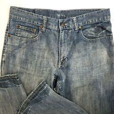 Flypaper Mens 32/34 Blue Jeans Bootcut Light Wash Casual Pants Denim Zip Button