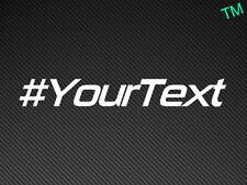 #yourtext Auto Adesivo In Vinile Decalcomania Personalizzato personalizzato il vostro testo