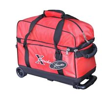 NEW XSTRIKE 2 BALL ROLLER BOWLING BAG RED, SPECIAL SALE PRICE $47.95