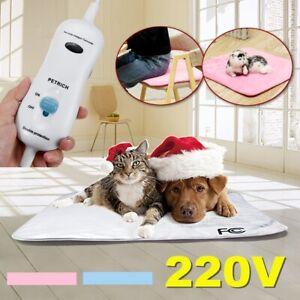 Waterproof Pet Dog/Cat Electric Heating Pad Winter Warmer Mat Bed Blanket