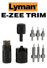 Lyman * E-ZEE TRIM Hand Case Trimmer PSTL SET Includes Six Pilots * 7821892 New!