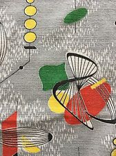 Huge Piece of 1950s Barkcloth Atomic Mid Century Lucienne Day Marion Mahler