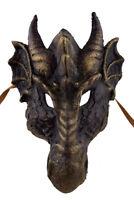 Maschera Veneziana Dragone Dorata Carta Masticato- Travestimento- 2322 Impianto