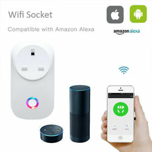 WiFi Smart UK Plug Switch Socket Outlet Wireless Timer Remote Control Alexa Home
