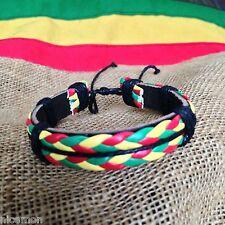 Rasta Leather Wrist Bracelet Hippie Cuff Negril Hawaii Surfer Reggae Marley RGY