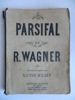 Richard Wagner Parsifal Piano Canto Opera Wilder Kleinmichel Schott Partitura