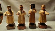 Set of 4 Vintage Anri Hand Carved Doctors Figures Figurines Statues