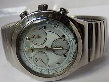 SWISS SWATCH IRONY AG1995 40 MM CASE ST.STEEL CHRONO WATCH.NEW EXP. BRACELET.GWO