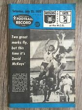 1977 VFL AFL football record Melbourne Demons V Geelong Cats July 23 1977
