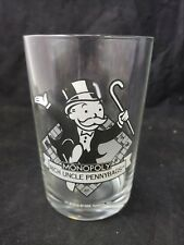 """McDonalds 1996 Hasbro Monopoly Rich Uncle Pennybags Glass Tumbler 16 oz 5"""" Tall"""