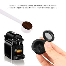 Top Quality 2pack Refillable-Reusable-Coffee-Capsules-Pod-for-Nespresso+Spoon