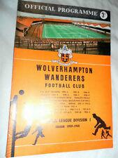 1959 CHARITY SHIELD WOLVERHAMPTON WANDERERS V NOTTINGHAM FOREST