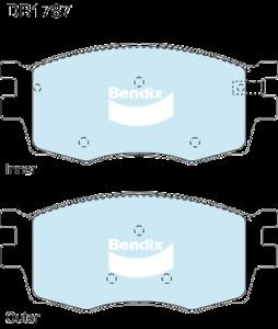 Brake Disc Pad Set Front Bendix DB1787 GCT For HYUNDAI KIA ACCENT i20 RIO JB