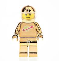 LEGO SPACE MINIFIGURES VINTAGE CLASSIC ASTRONAUT SPACEMAN CHROME GOLD