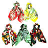 DIY Bow Streamers Elastic Hair Scrunchie Knotted Ribbon Ponytail Scarf.Hair-Ties