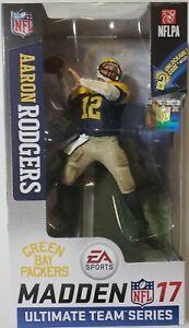 Aaron Rodgers NFL Madden 17 McFarlane Green Bay Packers Retro Uniform🔥