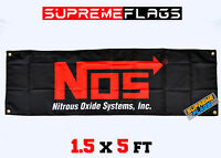 "NOS Boy Nitrous Oxide System Tank Car Racing Sticker Reflective Light 1.75x3/"" BK"