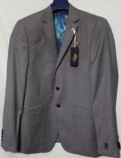 Ted Baker Slashj Sharkskin Wool Tailored Fit Suit Jacket,Grey RRP £240 BNWT 42R