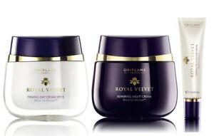 ROYAL Velvet Firming DAY Cream SPF15 + Repairing NIGHT+ EYE Cream Oriflame 3pcs