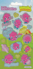 Moshi monsters Small Foil Re-usable Stickers 15 in a pack- 4 PACKS-