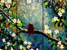 Rita Sherifi Triptych Large art paintings ORIGINAL Art MODERN.moonlight wish