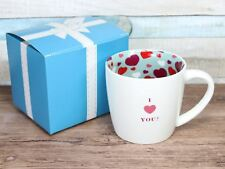 I Love Heart You  - Inside Out Mug Ceramic Hearts Gift Boxed