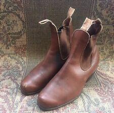 R.M Williams Boots Cuban Heel Bushman Brown Mens Size 7.5G