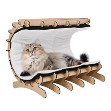 New listing Pet Cat Bed Warm Cushion House Soft Calming Removable Cover with Toys Wooden