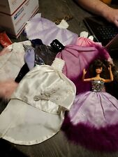 A lot of 20 Barbie evening gowns