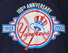 New York Yankees 2003 100th Anniversary T-Shirt 2XL New w/ Tags MLB Derek Jeter