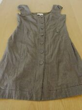 Ladies Brown Cue Business Corporate Work Dress Size 14 Made in Australia