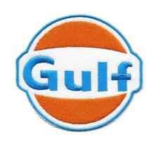 """GULF IRON ON PATCH 3"""" Racing Car Mechanic Gas Station Logo Embroidered Applique"""