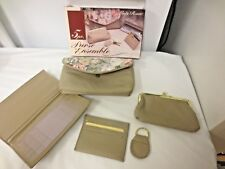 Lady Ronte 5-pc Purse Ensemble Boxed-Clutch,Photo Holder,Key Chain,Credit Card+