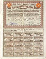 SCRIPOPHILIE / MINES DE CUIVRE DE LA FARE / ACTION BOURSE LONDON 1903