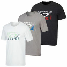 Oakley Cotton Solid T-Shirts for Men