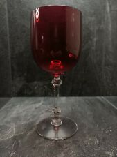 More details for ruby red glass wine glass 7.5