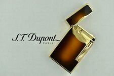 NEW ST Dupont Le Grand Sunburst Brown Natural Lacquer & Gold Lighter ST023012