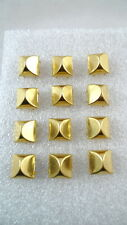 """New listing 12 Gold Tone Metal Square Domes Studs 1/2"""" Leather Decoration Crafts"""