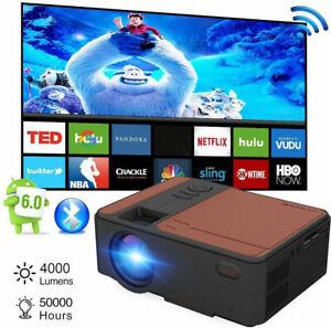 Tragbar Android Wifi Beamer HD Smart Heimkino Blue-tooth 1080p Spiel HDMI LED TV
