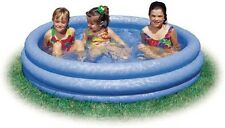 """Kids Swimming Pool Play After School Outdoor Inflatable 11.5"""" Deep Round Blue"""