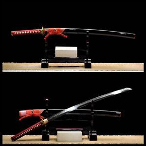 Handmade Japanese Clay tempered L6 steel blade Samurai Katana very Sharp Sword
