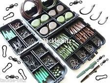8 Weight Carp Fishing Tackle Box Set Curve Shank Hooks safety clips swivels