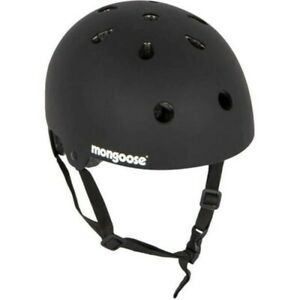 ■ Mongoose BMX/Skate Hardshell Helmet Matte Black Medium 56-59cm