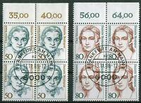 Bund Nr. 1304 - 1305 OR Viererblock gestempelt EST Vollstempel Frankfurt