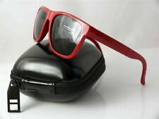 Burberry 4106 folding Wayfarer Sunglasses Brick Red frame grey lenses ITALY NEW