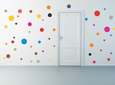 50 Polka Dot Wall Decals removable stickers decor mural nursery children kids