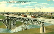 Spokane,WA. The O.W.R.& N.and Monroe Street Bridges over the Spokane River 1915