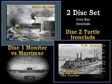 2 DVD Set Civil War Navy Films Ironclad Monitor vs Merr