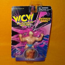 "VINTAGE 1998 90s WCW CHAMPIONSHIP WRESTLING RIC FLAIR 4.5"" FIGURE MOC CARED"